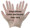 POWDER FREE VINYL GLOVE LARGE
